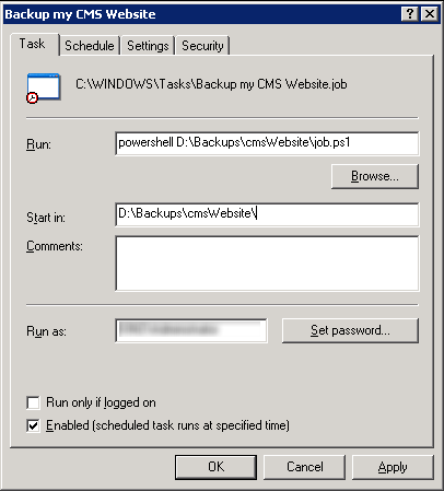 scheduler in windows 7