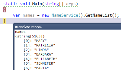 in debugging you can access the data set through immediate window