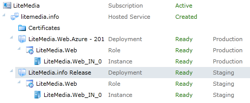 Azure management console common setup