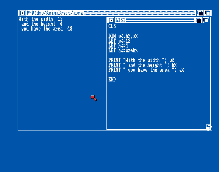 Amiga Basic: Area