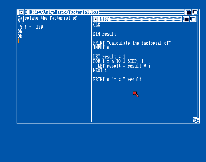 Amiga Basic: Factorial
