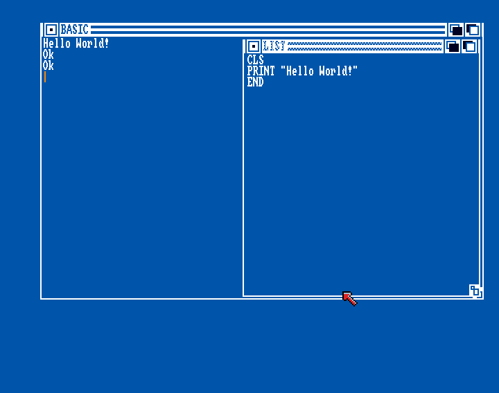 Amiga Basic: Hello World