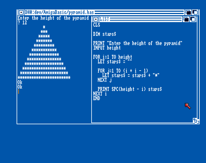 Amiga Basic: Pyramid