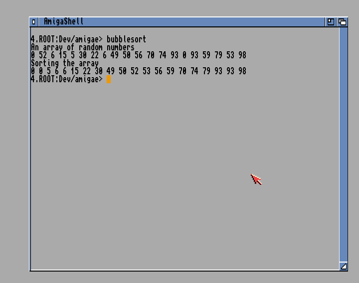 BubbleSort algorithm in Amiga E